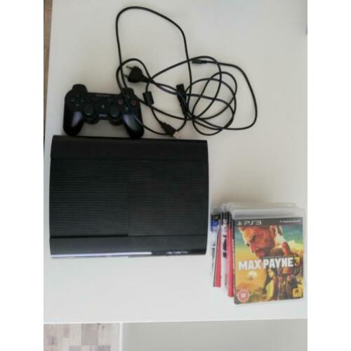 Playstation 3 Super Slim 12GB+ HDMI + 1 Controller + 7 games