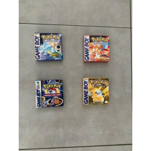 Pokemon Blue, Red, Trading Card Game & Yellow Game Boy